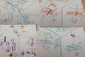 A personal photo of the sketches from the combined genius of JetSet