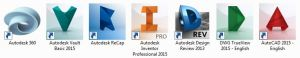 I downloaded a total of seven Autodesk-related programs, some by mistake (Original screenshot)