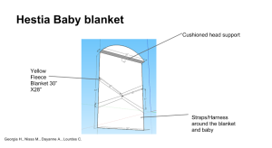 Baby Blanket Final Sketch-Up Design- Photo taken by Dayanne A.