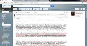 Blog post 2, email between karina and I