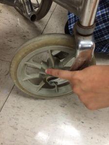 Broken front wheel