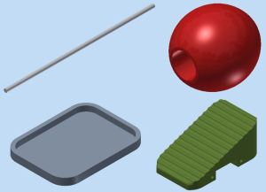 The four basic components of the 3D model- they look so simple, don't they? (Original screenshot)