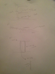 This is an original sketch of some possible interlocking mechanism designs.