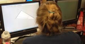 Sofia working on Google Sketch up