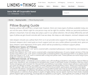 Look at this! It's everything you wanted to know, didn't want to know, and didn't know you wanted to know about pillows! http://www.lnt.com/content/30/pillow-buying-guide.html