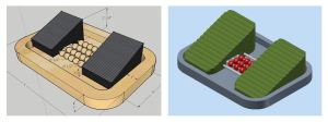 On the left: SketchUp model of our design On the right: Autodesk Inventor model of our design Which do YOU like better? (Original screenshot)
