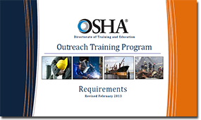 Example of what the OSHA training pages look like.