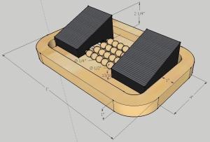 Original screenshot of a perspective view of my initial SketchUp model