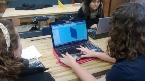 The Engineering Team: Annalise and Erin hard at work on JetSet's second 3D model.