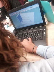 Yuvia working on our Prototype (picture taken by Leidy)