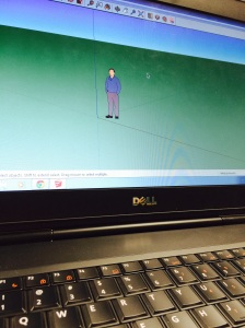 An image of Google Sketchup an unfamiliar program for the biomedical members.