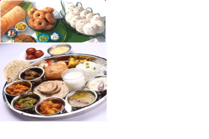 This is a comparison of traditional South Indian food and classic Gujarati  food.