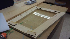 Original Photo: Front framework with laser-cut gussets and acrylic for the window.