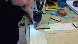 Original Photo: Drilling the front together with gussets.
