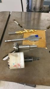 Bits for the drill press.