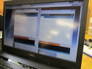 code on screen