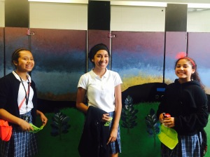 6th graders really liked the mural, specially the sunset