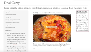 Screenshot of our Dhal Curry recipe. We made this with the help of Isha's mom.