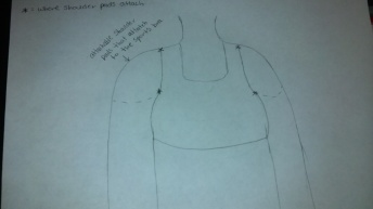 This is a hand drawn sketch made by Capri J. representing our new design.