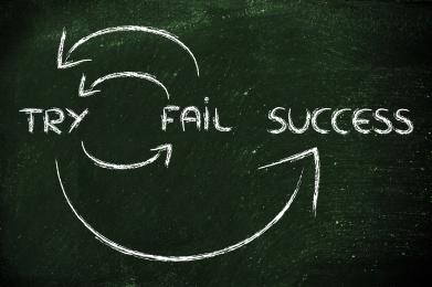 try, fail, repeat, success